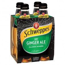 SCHWEPPES DRY GINGER ALE 4 PACK X6 X300ML