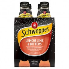 SCHWEPPES LEMON LIME AND BITTERS 4 PACK X6 300ML