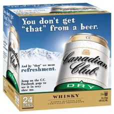 CAN CLUB & DRY CUBE CANS 375MLX24