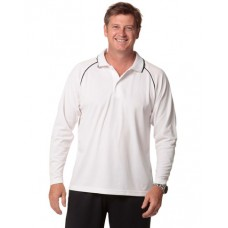 Men's CoolDry® Long Sleeve Contrast Colour Polo
