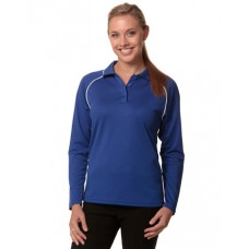 Ladies' CoolDry® Long Sleeve Contrast Colour Polo