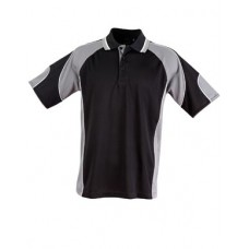 Men's CoolDry® Contrast Short Sleeve Polo with Sleeve Panels