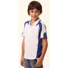 KIDS' COOLDRY® CONTRAST SHORT SLEEVE POLO WITH SLEEVE PANELS