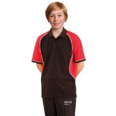 Kids' TrueDry® Tri-colour Short Sleeve Pique Polo