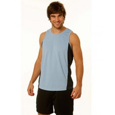 ADULT'S CONTRAST COOL- DRY® MESH SINGLET