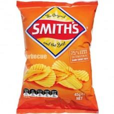 Smiths Crinkle BBQ 45gm x 18