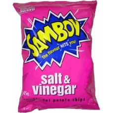 Samboy Chips Salt/Vinegar 45gm x 18