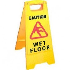 "Caution Wet Floor Sign ""A"" Frame Yellow"