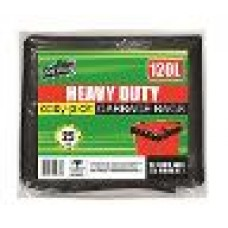 Garbage Bags Heavy Duty 120Ltr 25pk