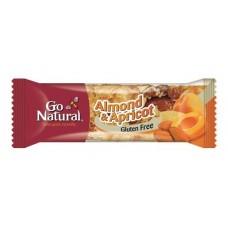GO NATURAL ALMOND & APRICOT BAR 40GMX16
