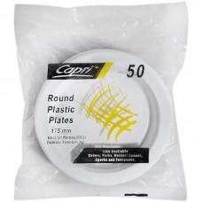 Plate Plastic Sml 7In Capri 50s