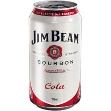 Jim Beam & Cola 4.8% Can 24PK 375ml