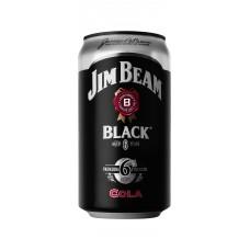 Jim Beam Blk & Cola 5% Can 375ml