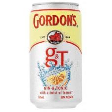 Gordons Gin&Tnc Can 4.5% 375ml