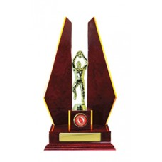 DOUBLE TRIANGLE WING TIMBER TROPHY 335MM