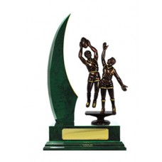 SINGLE CRESCENT WING TIMBER TROPHY 270MM