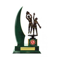 SINGLE CRESCENT WING TIMBER TROPHY 295MM