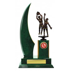 SINGLE CRESCENT WING TIMBER TROPHY 345MM