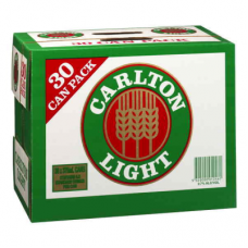 CARLTON LIGHT CANS 375ML 30PK