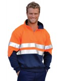 Men's High Visibility Long Sleeve Fleecy Sweat S - 3XL