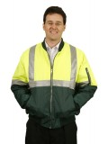 High Visibility Tow Tone Flying Jacket with 3M Reflective Tapes  4XL, 5XL,7XL