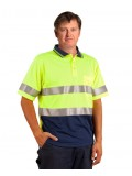 High Visibility Short Sleeve Safety Polo 3M Reflective Tapes S - 3XL