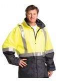 Hi-Vis Two Tone Rain Proof Safety Jacket With Mesh Lining and 3M Scotchlite Reflective Tapes 5XL, 7XL