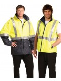 Hi-Vis Three in One Safety Jacket with 3M Tapes XXS - 3XL