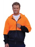 High Visibility 2 Tone Fleecy Hoodie S - 3XL