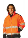 High Visibility Two Tone Softshell Jacket with 3M Reflective Tapes S - 3XL