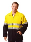 High Visibility two Tone Safety Bluey Jacket S - 3XL