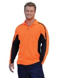 Men's TrueDry® Hi-Vis Long Sleeve Polo with Reflective Piping