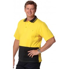 Men's 100% Cotton Jersey Safety Polo S - 3XL