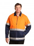 High Visibility Cotton Jacket With 3M Reflective Tapes S - 3XL