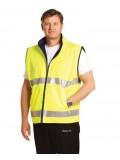 Hi-Vis Reversible Mandarine Collar Safety Vest With 3M Tapes 5XL,7XL