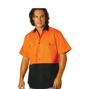 Men's High Visibility Cool-Breeze Cotton Twill Safety Shirts S - 3XL