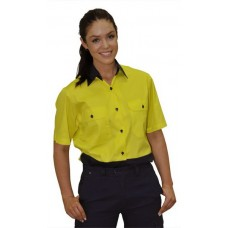 Ladies' High Visibility Cool-Breeze Cotton Twill Safety Shirts