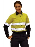 High Visibility Cool-Breeze Cotton Twill Safety Shirts with 3M Tapes
