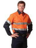 High Visibility Cotton Twill Safety Shirt with Reflective 3M Tapes S - 3XL