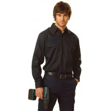 Cool-Breeze Cotton Long Sleeve Work Shirt S - 3XL