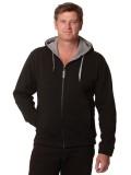 Adult's Full Zip Contrast Bonded Fleece Hoodie