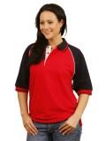 Ladies Tri-colour Raglan Sleeve Pique Polo