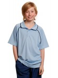 Kids' CoolDry® Raglan Short Sleeve Contrast Polo