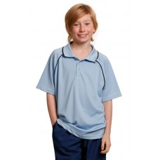 Kids' CoolDry® Raglan Short Sleeve Contrast Polo