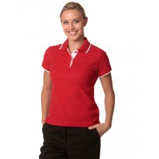 Ladies' Poly/Cotton Contrast Pique Short Sleeve Polo