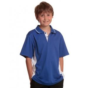 Kid's TrueDry® Contrast Short Sleeve Polo