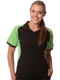 Ladie's TrueDry® Tri-colour Short Sleeve Pique Polo